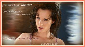 Cock control Mistress Stephanie